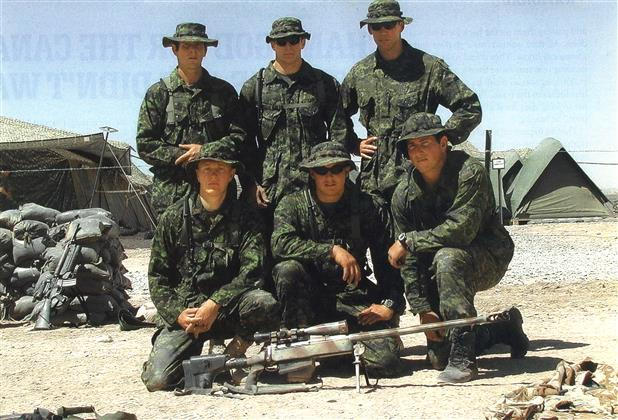 Canadian snipers, including Rob Furlong, in Afghanistan in 2002