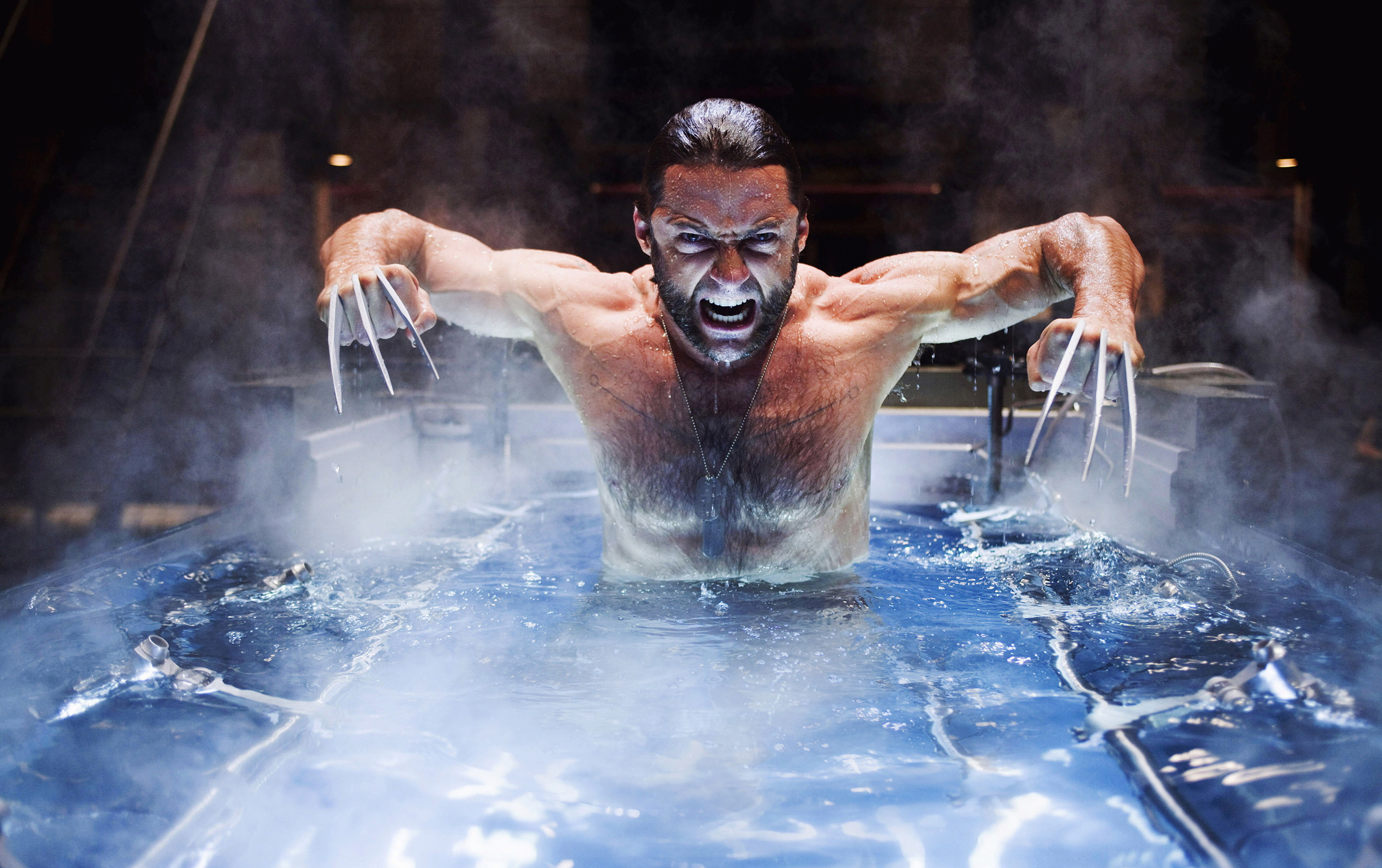 Hugh Jackman emerges from a brutal baptism in 'X-Men Origins: Wolverine'