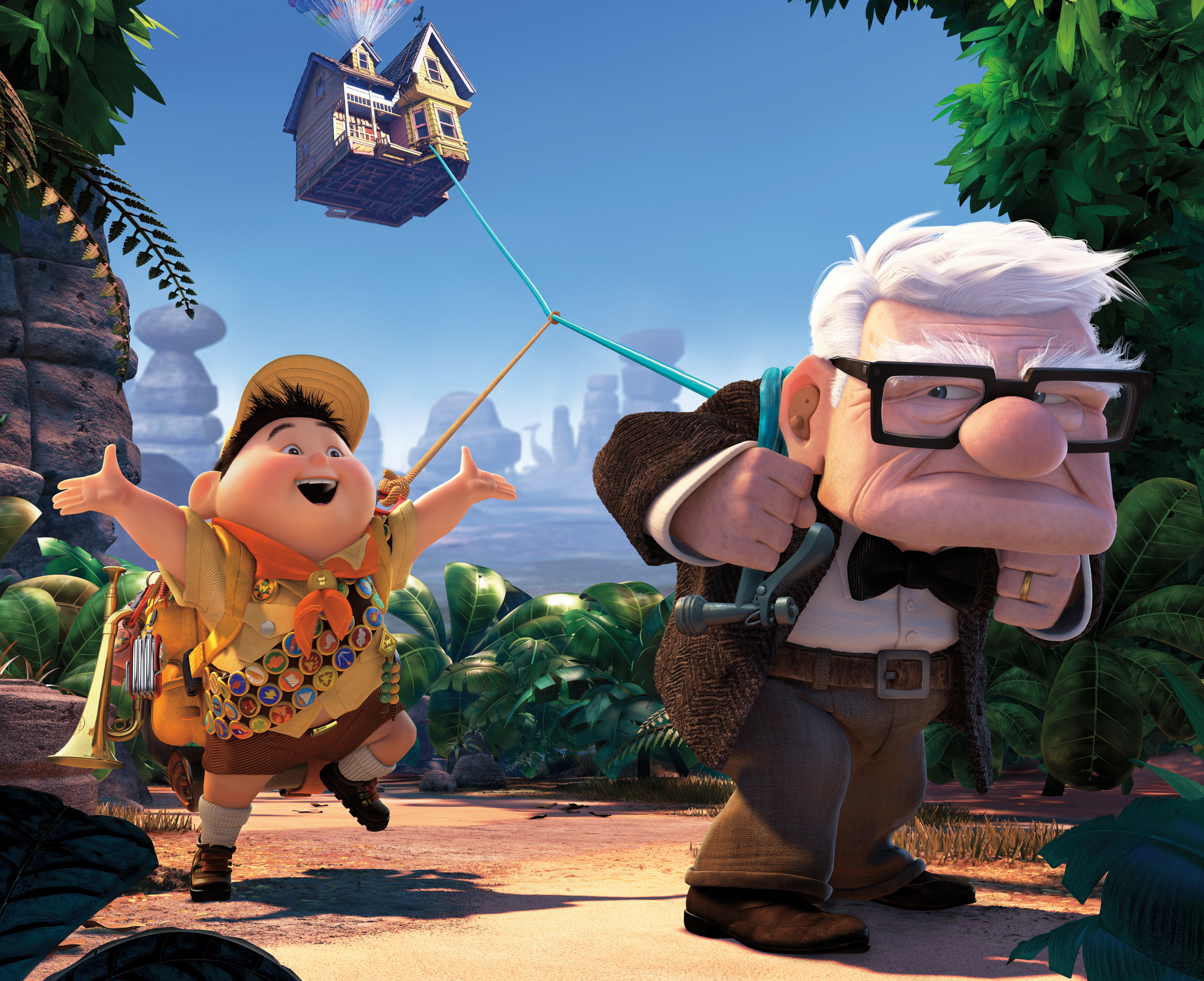 Ed Asner voices a grumpy old man who flies to South America in 'Up'