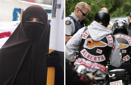 What do conservative Muslims and the Hells Angels have in common?