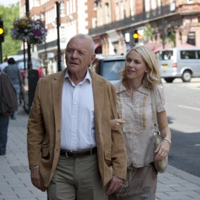 Anthony Hopkins and Naomi Watts in 'You Will Meet a Tall  Dark Stranger""