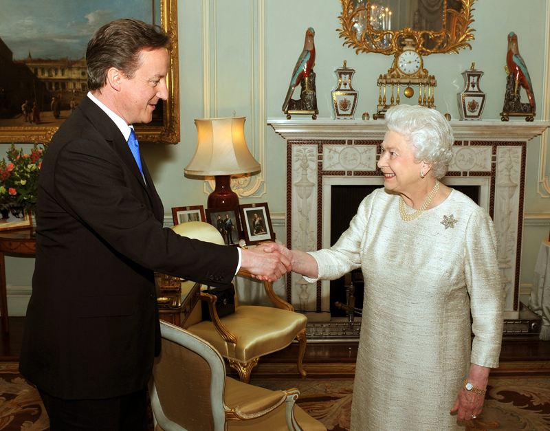 David Cameron announced as new Prime Minister at Buckingham Palace