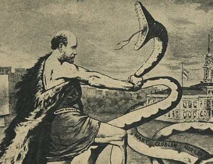 """1886 cartoon of Henry George"""