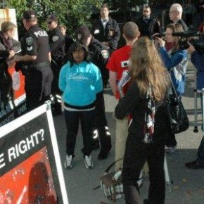An anti-aborition protest at Carleton University