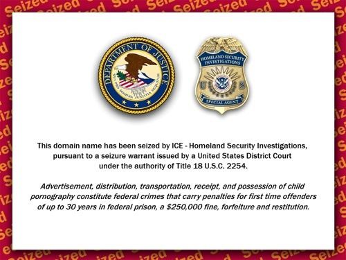 "DHS ""SEIZED"" screen"