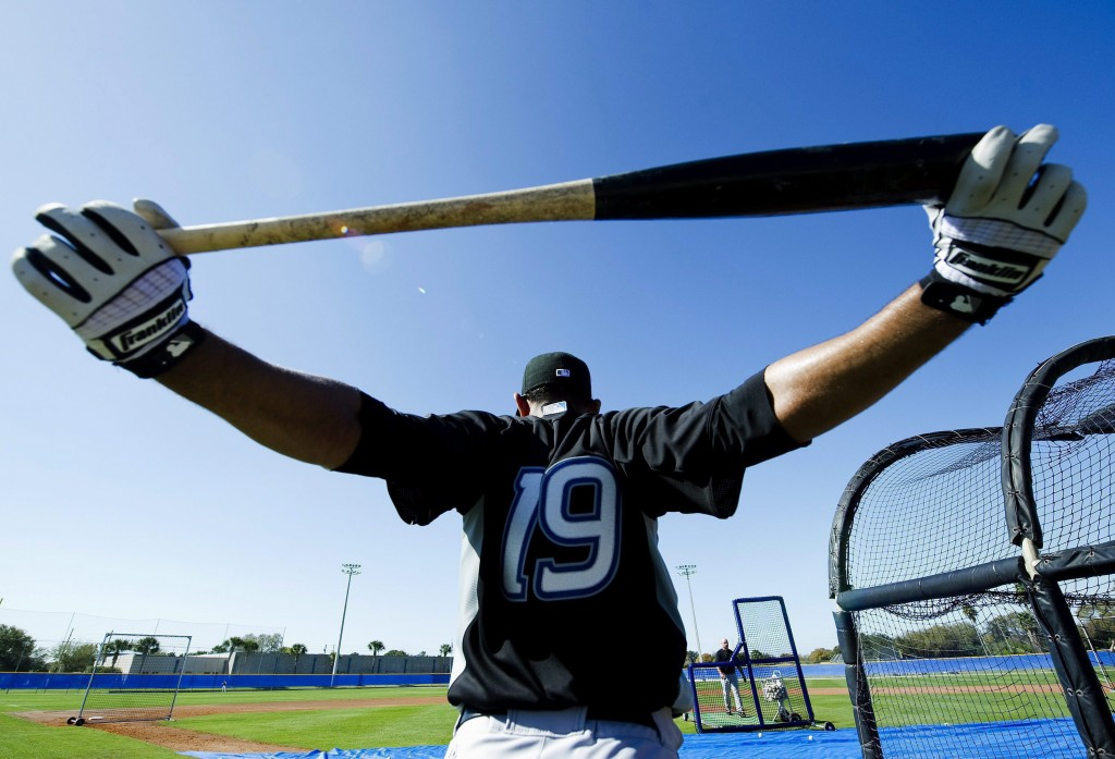 Bautista limbers up for spring training