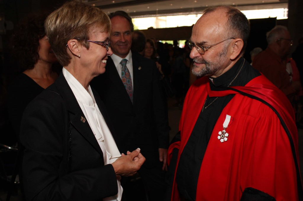 Interim NDP leader Nycole Turmel and Rev. Brent Hawkes.