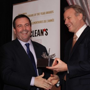 Immigration MInister Jason Kenney (left) and Ken Whyte, President of Rogers Publishing Limited