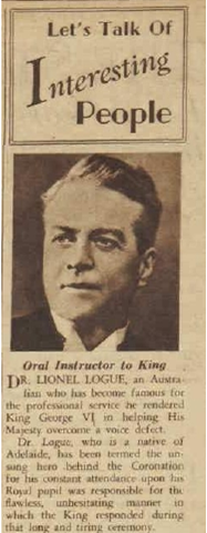 Lionel Logue clipping