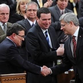 Jim Flaherty, Stephen Harper