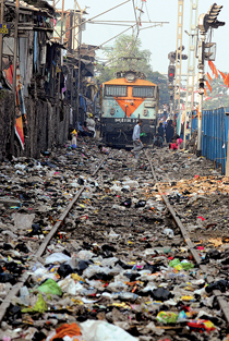 A railway system wastes away