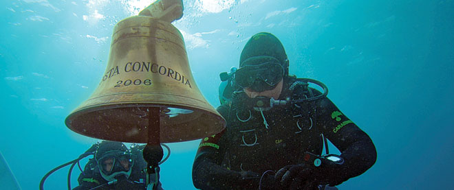 Bell from Costa Concordia