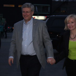 Prime Minister Stephen Harper and his wife Laureen Harper.