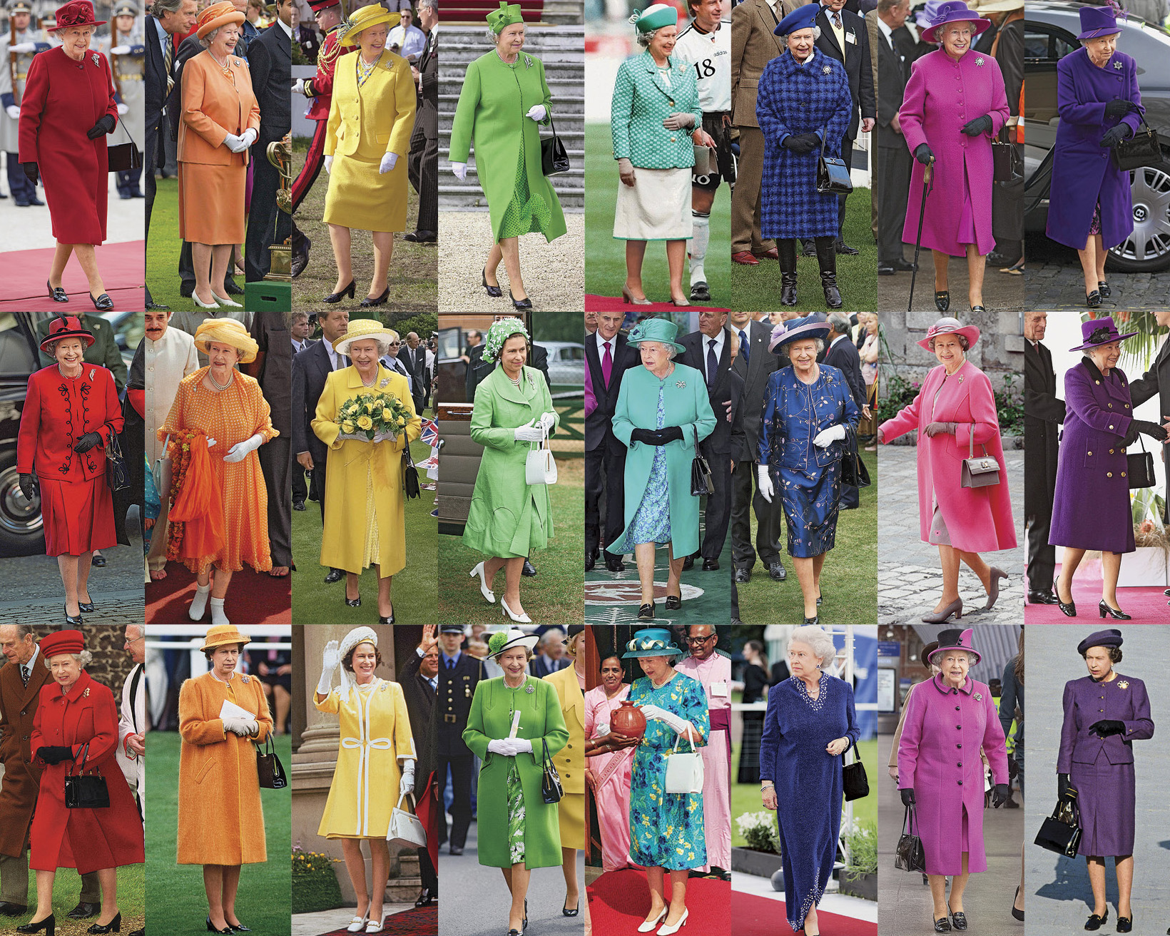 Why the Queen avoids beige