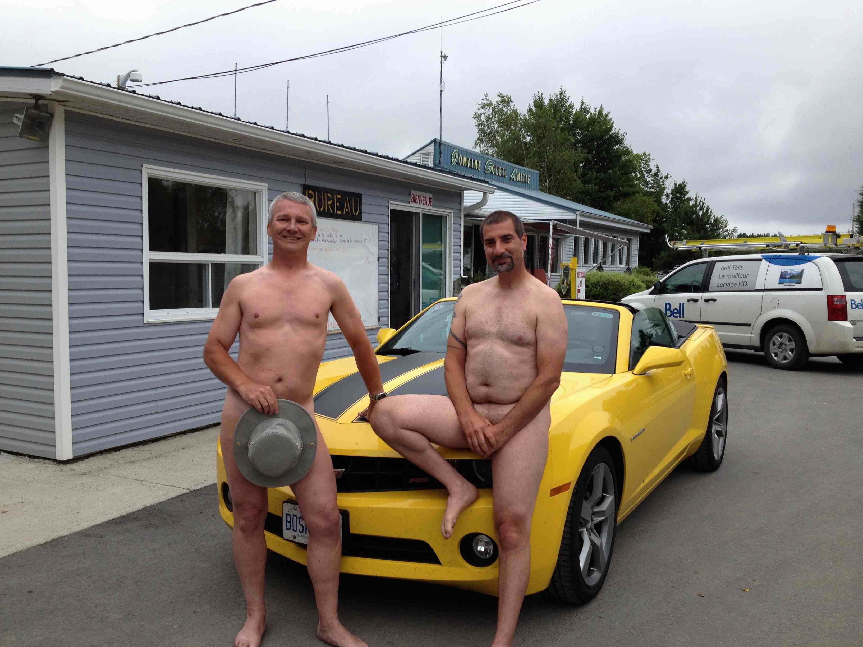 Mark and Costa settle in at the naturist resort