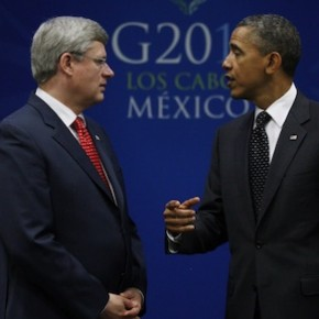 Stephen Harper Barack Obama