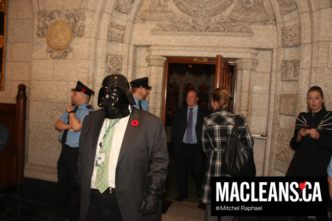Darth Vader in the House: Halloween in the halls of Parliament