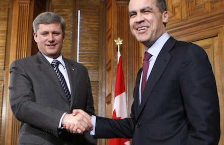PM Stephen Harper and Mark Carney: Were they simply lucky?