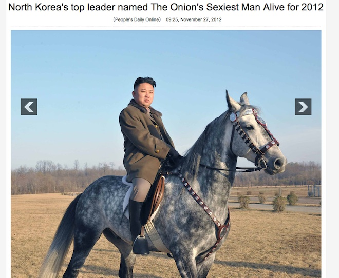 North Korean leader Kim Jong Un named sexiest man alive by The Onion
