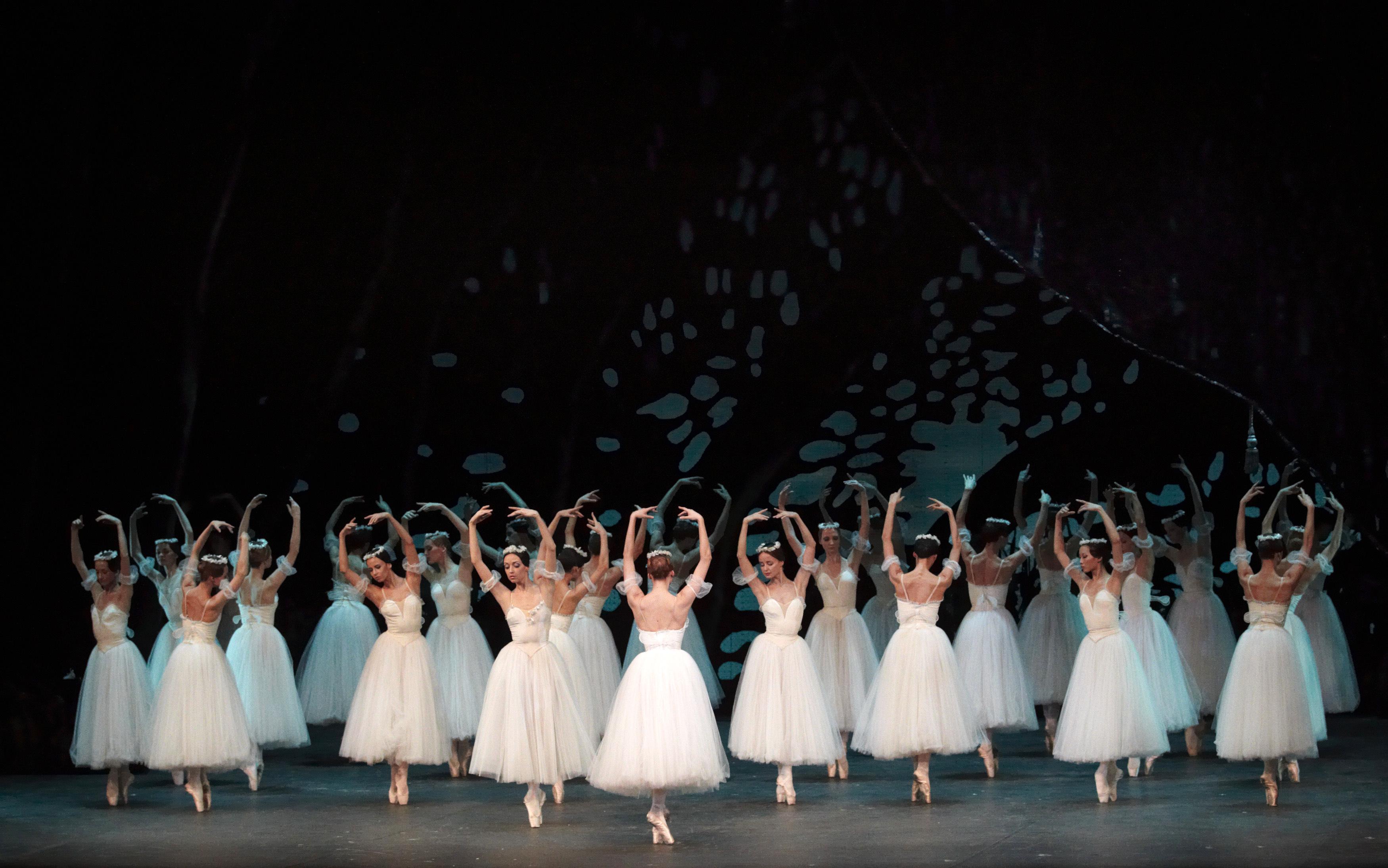 bolshoi dancers perform the gisele ballet at the palais de beaulieu theater in lausanne