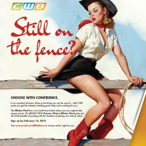 Offensive CWB ad featuring exploited female