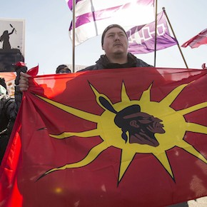 Idle No More protesters in Windsor, Ont. (Geoff Robins/CP)