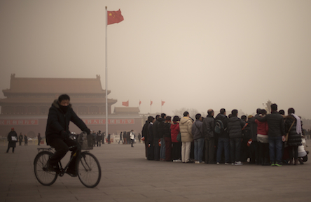 Sandstorm and smog combination causes terrible air quality in Beijing