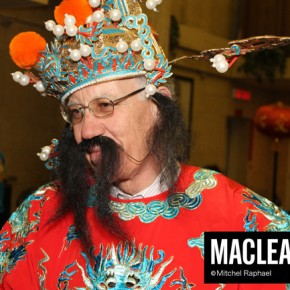 Liberal Sen. Mac Harb as the God of Fortune.