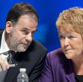 Premier Pauline Marois and Education Minister Pierre Duchesne at the education summit Paul Chiasson/CP