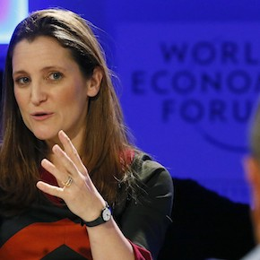 Chrystia Freeland at the World Economic Forum in Davos on January 25, 2013. (Pascal Lauener/Reuters)