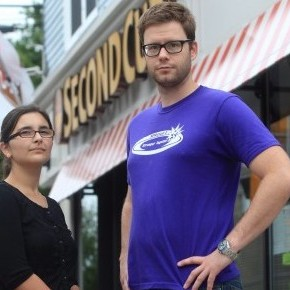 Halifax Second Cup employee Shelby Kennedy and union rep. Jason Edwards  Mike Dembeck/CP)