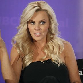 "Actress Jenny McCarthy, host of the new reality series ""Love in the Wild"" at the NBC Universal Summer Press Day 2012  in Pasadena"
