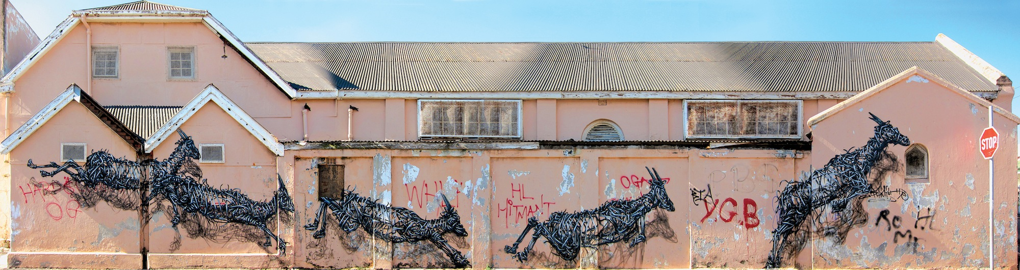 photo essay street art goes global ca antelopes by the artist