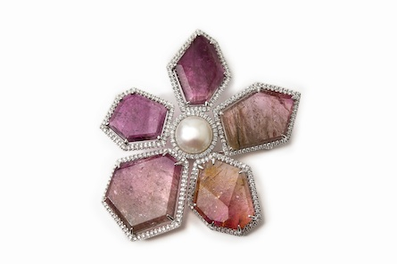 The Queen's tourmaline brooch, created by Hillberg & Berk