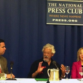 Former White House spokesman Bill Burton, David Suzuki, artist Artist Franke James