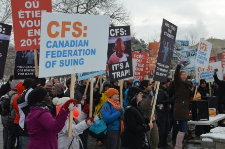 Canadian Federation of Students targeted by protesters