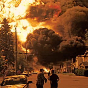 Explosion in Lac Megantic.