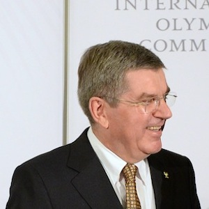 IOC President Thomas Bach and Russian President Vladimir Putin. (AP Photo/Andrej Isakovic, Pool)