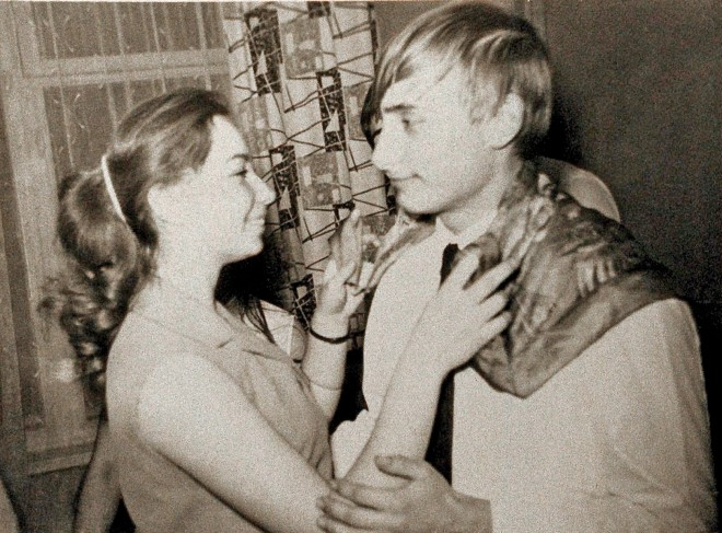 1969, St. Petersburg, Russia: A young Vladimir Putin dances with a girl named Elena while in 9th grade at a secondary school. --- Image by AC epa/Corbis