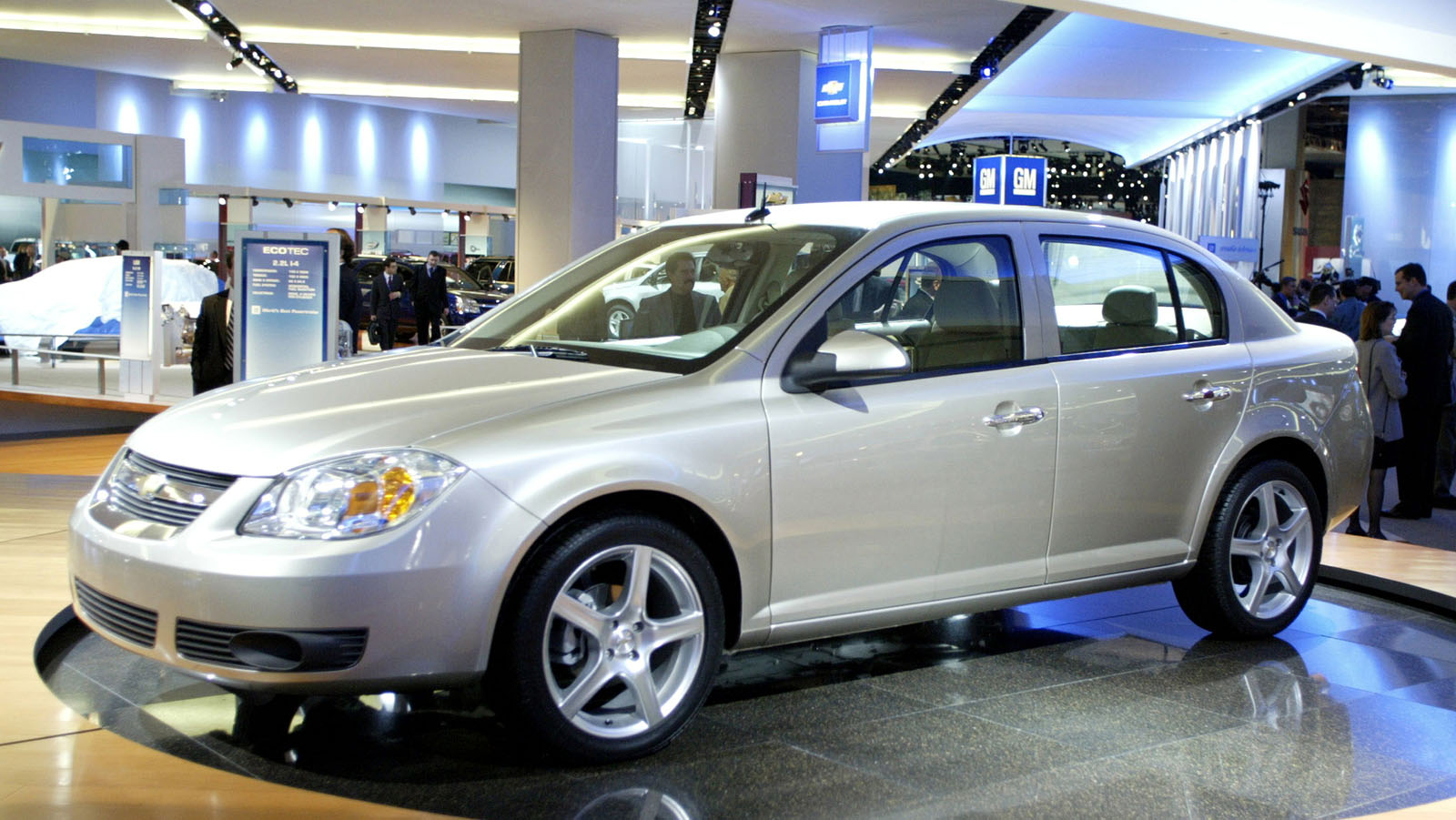 The 2005 Chevrolet Cobalt is displayed on the floor of the North American International Auto Show Ja..