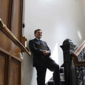 Canada's Finance Minister Flaherty waits to testify on Parliament Hill in Ottawa