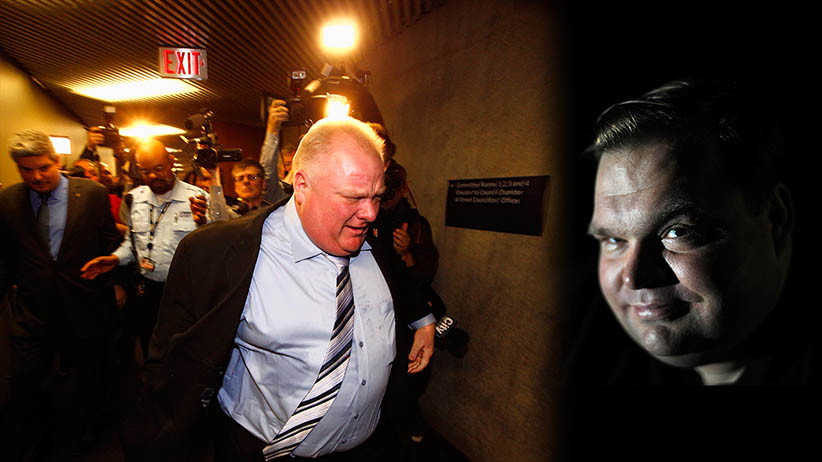 Rob Ford and Mike Daisey (Photos by CP and Astrid Riecken/Washington Post)