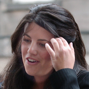 File photo shows Monica Lewinsky arriving at the International Exhibition and Conference Centre in Edinburgh
