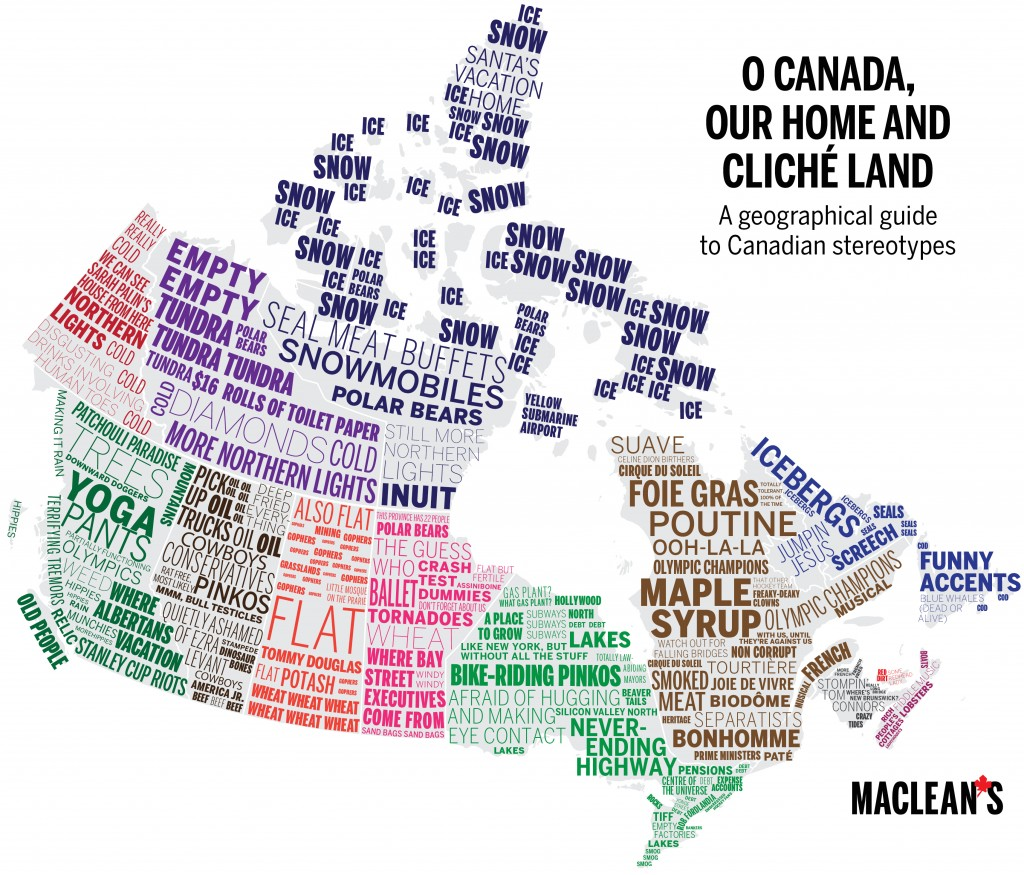 Map of Canadian clichés