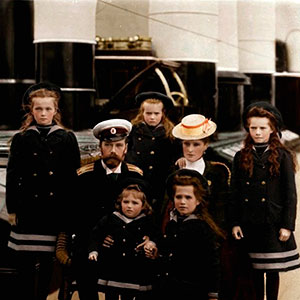 The family of Tsar Nicholas II of Russia, c1906-c1907(?). Artist: Anon