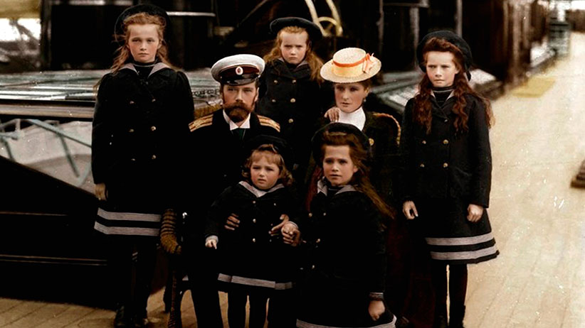 The family of Tsar Nicholas II of Russia, c1906-c1907(?). Artist: Anon