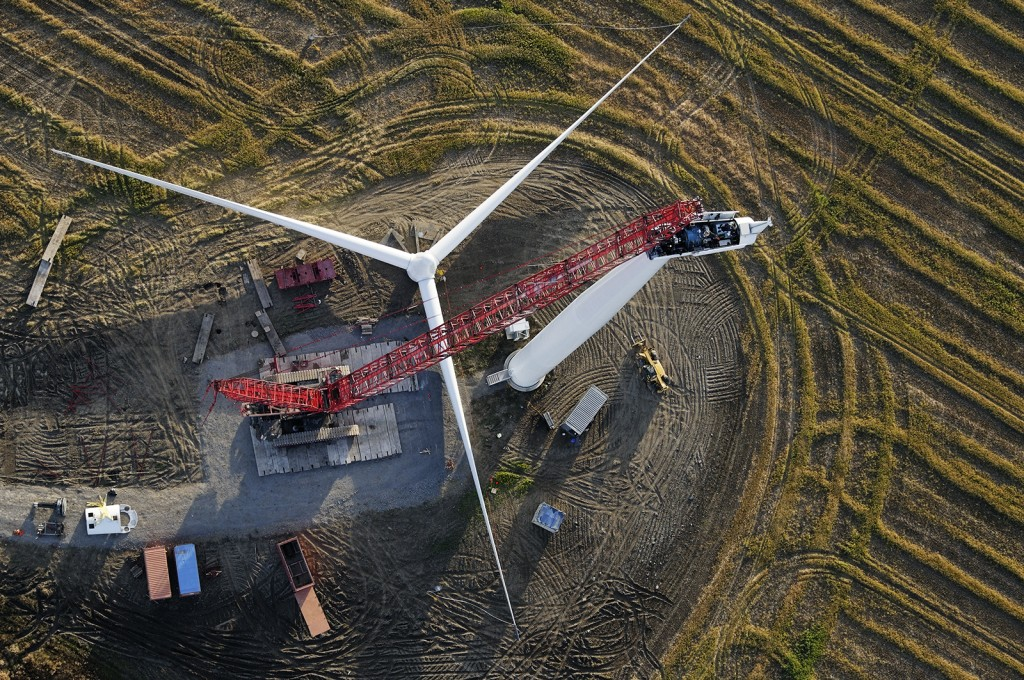 Wind Turbine Assembly, Wolfe Island Ontario Canada