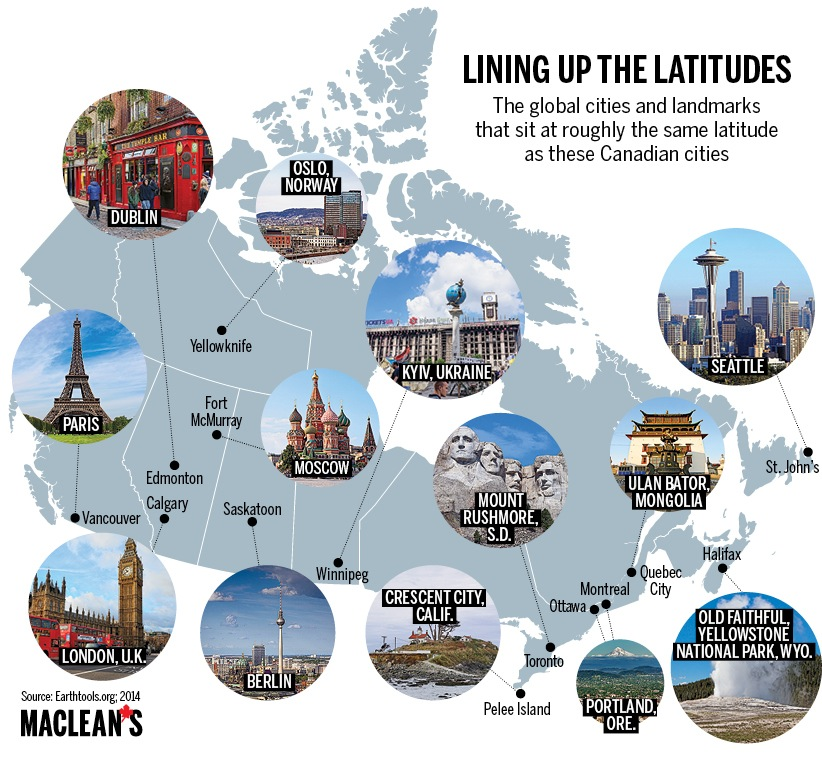 Mapped canadian latitudes around the world maps9 gumiabroncs Image collections