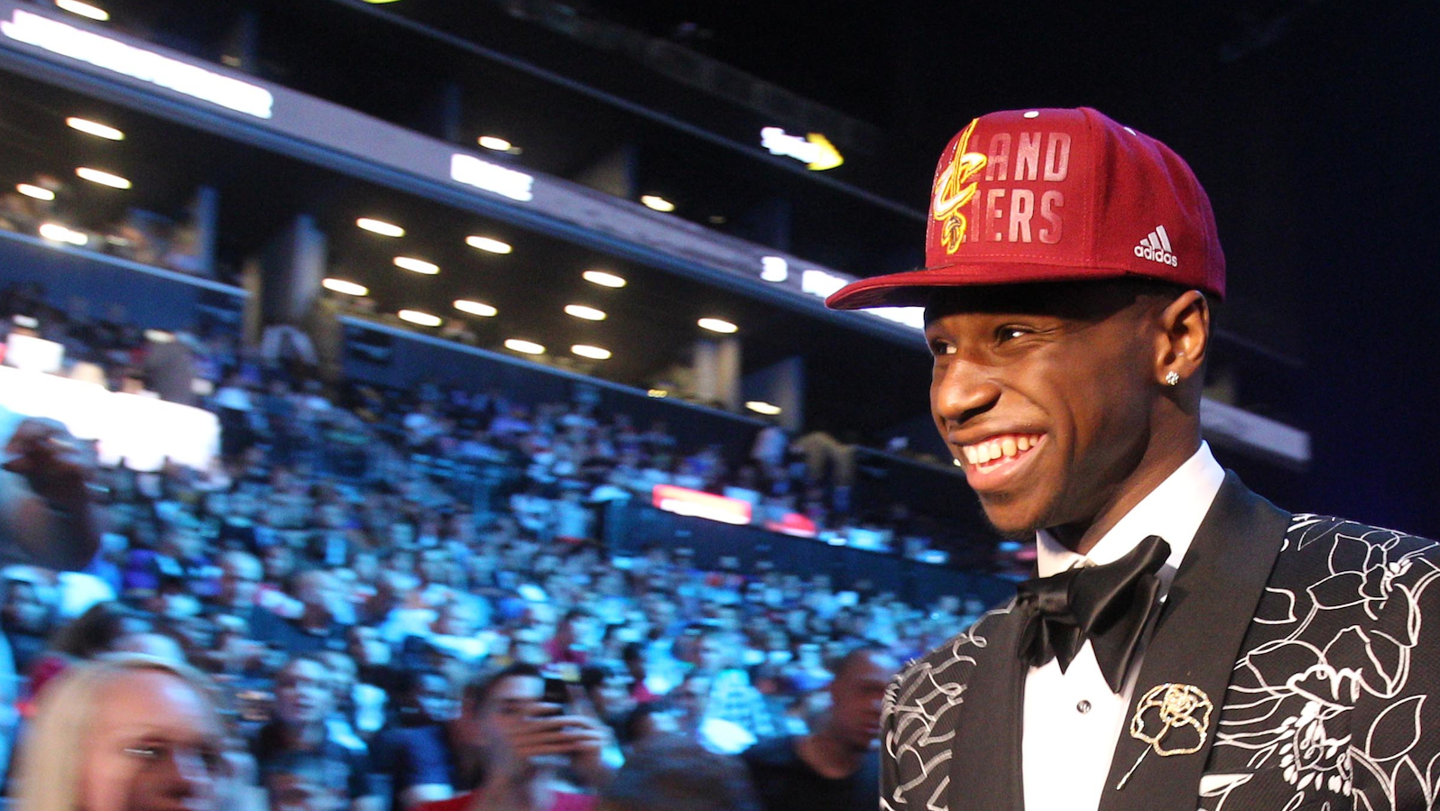 Andrew Wiggins at the NBA draft pick in Brooklyn on June 26, 2014. (Brad Penner-USA TODAY Sports)
