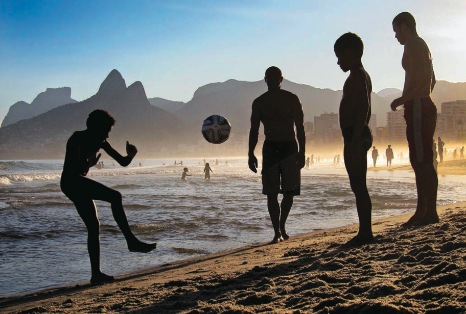 The ball's in their court: Children play a game of soccer on Rio de Janeiro's Ipanema beach as the 2014 FIFA World Cup nears its kickoff in Brazil. Jamie Squire/Getty Images